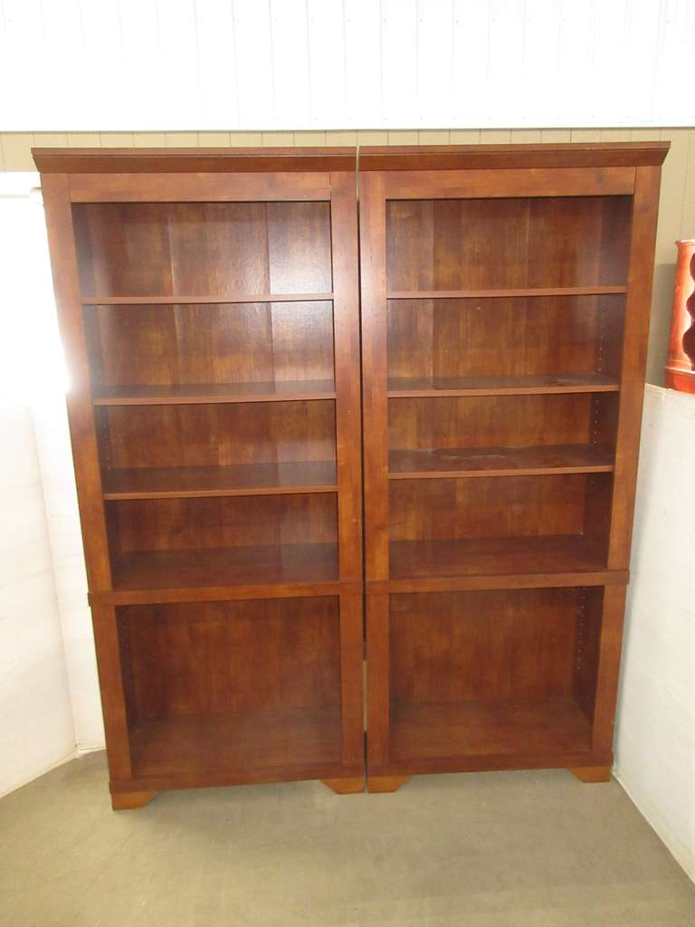 Set of (2) Matching Wood Bookshelves, Cherry in Color, Matches Lot Nos. 1 and 2