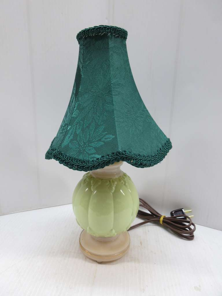 Small Aladdin Boudoir Lamp with Green Shade