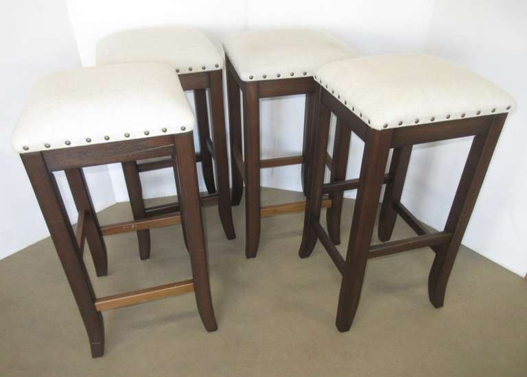 (4) Stylewell Square Wood Bar Stools
