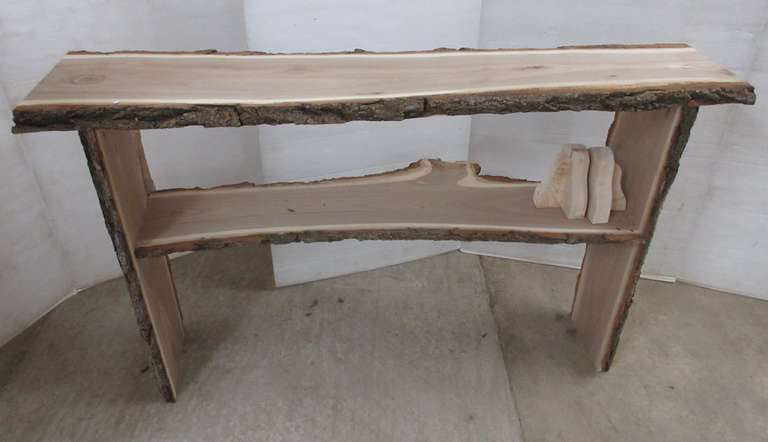 Chinese Elm Sofa Table with Book Ends