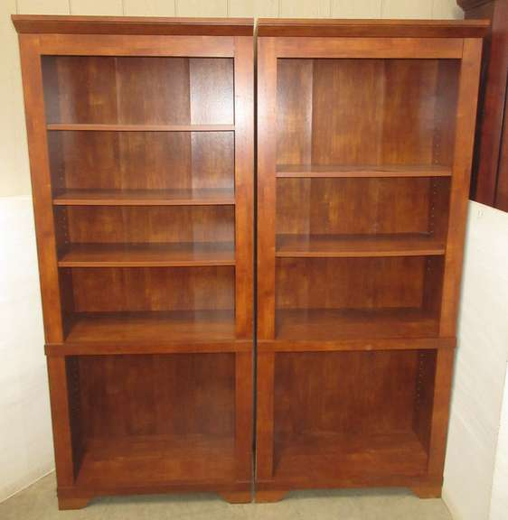 Set of (2) Matching Wood Bookshelves, Cherry in Color, Matches Lot Nos. 2 and 3