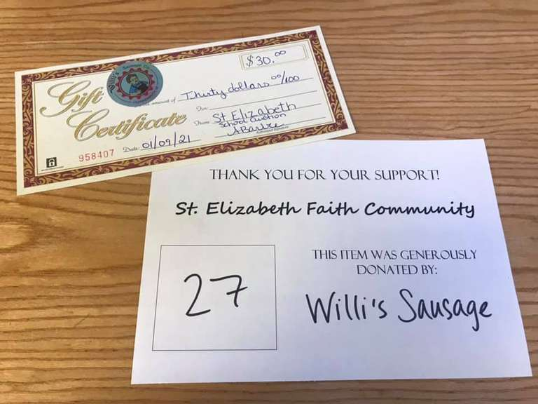 $30 Willi's Sausage Co. Gift Certificate