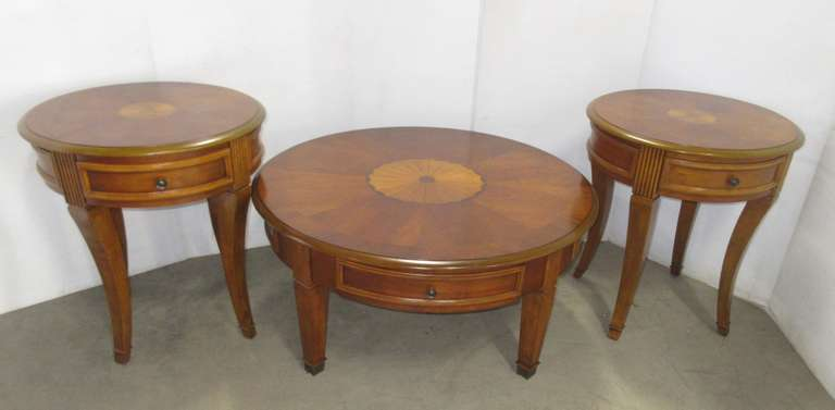 Coffee Table, and (2) Side Tables