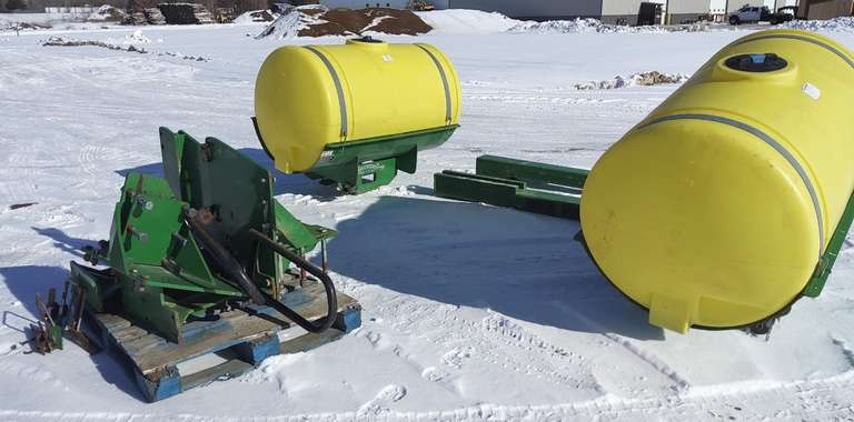 John Deere Helicopter Sprayer Tanks, Come with Mounting Brackets, Came Off of a 8335R Tractor, Good Clean Condition
