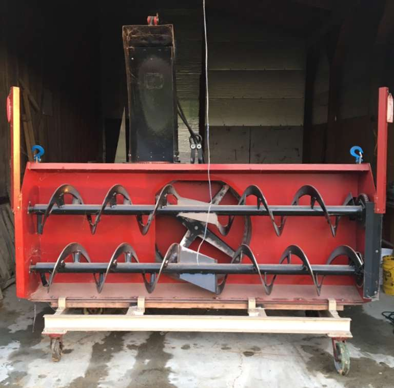 Woods SS96 Snow Blower, 8'W, Dual Auger, Hydraulically Controlled Chute, Great Condition