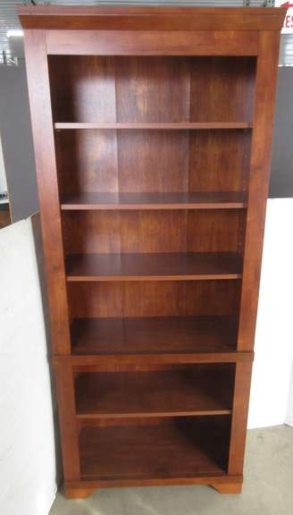 Solid Wood Bookshelf, Cherry in Color, Matches Lot Nos. 1 and 3