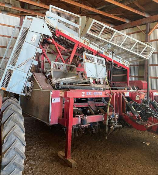 "Red River Sugar Beet Harvester, 6-30"" Row but Can be Moved Out to 8-20"" Row, Extended Unload, Nice Chains and Bearings, All Rollers have been Hard Surfaced, Always Housed, Great Condition, Field Ready"