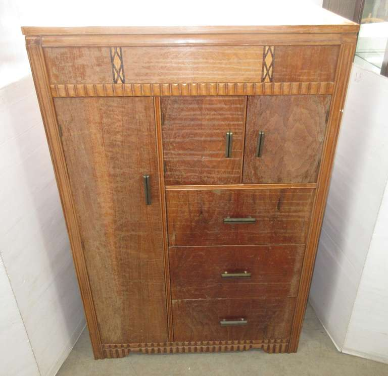 Older Armoire with Cedar Closet, Three Drawers, and Storage on Top