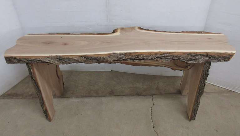 Elm Live Edge Bench