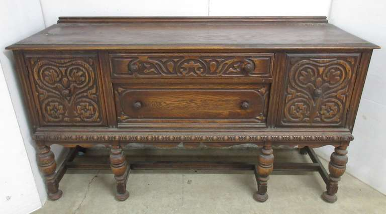 Intricate Carved Wood Sideboard, Matches Lot No. 5