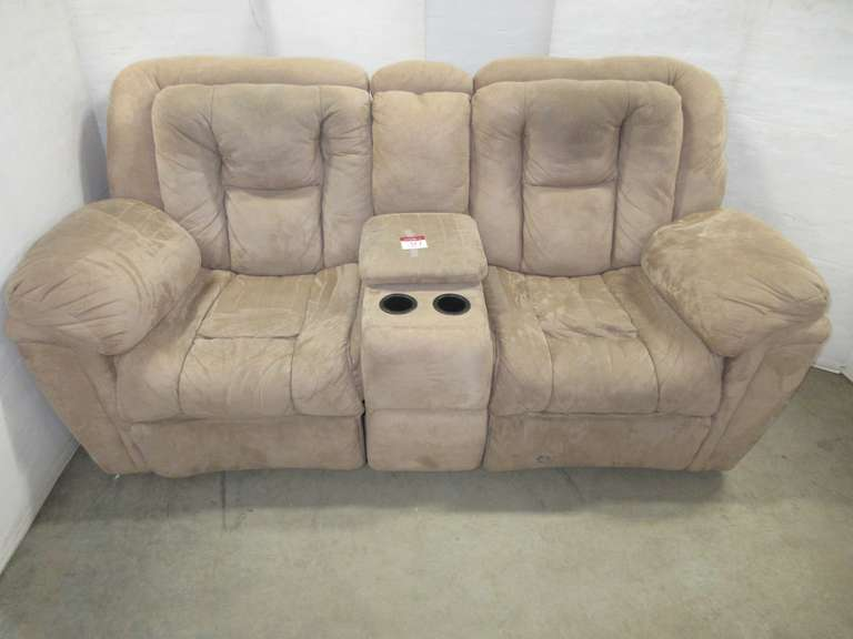 Loveseat with Center Console, Both Sides Recline