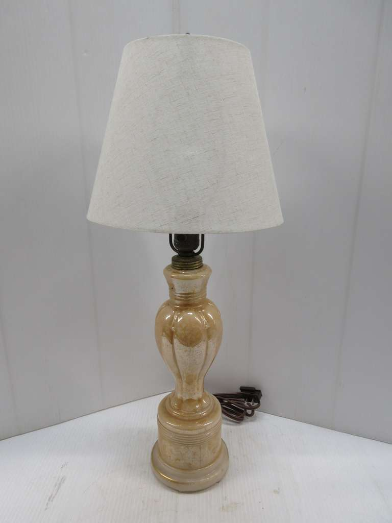 Old Aladdin Table Lamp with Illuminated Base and New Shade, Matches Lot No. 206