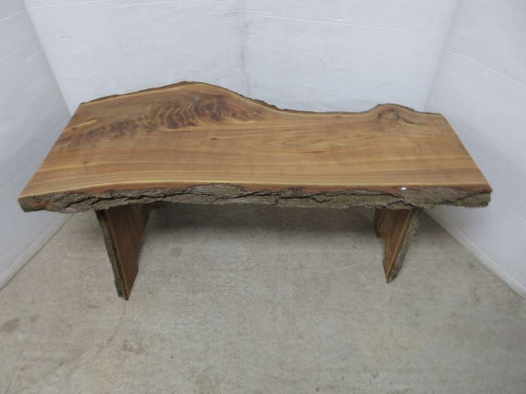 Chinese Elm Coffee Table, Live Edge