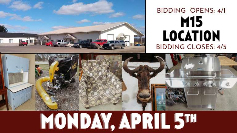 April 5th (Monday) M-15 Online Consignment