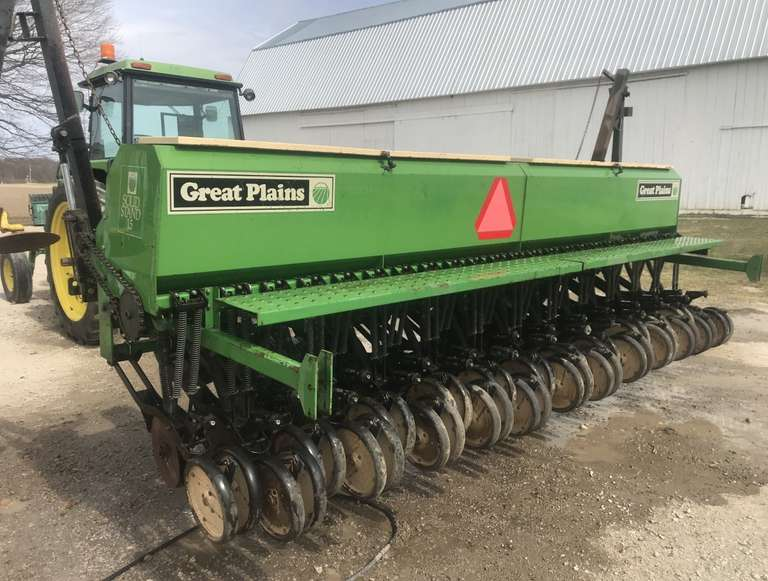 "Great Plains Drill, 15'7"" Spacing, Able to Plant Cover Crop Seeds"