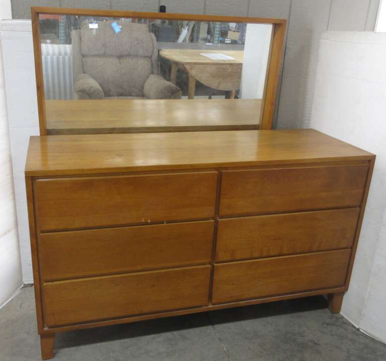 Mid-Century Conant Ball Dresser and Mirror, Matches Lot No. 63