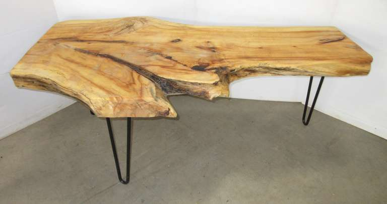 Maple Coffee Table or Bench, Live Edge