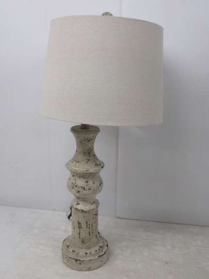 White Farmhouse Lamp