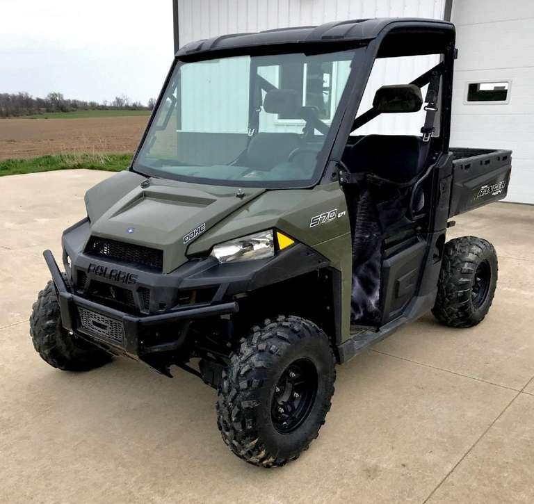 2014 Polaris 570 Ranger, (6400 Miles), Full Size, Glass Windshield, Runs Great, Clean and Clear Title