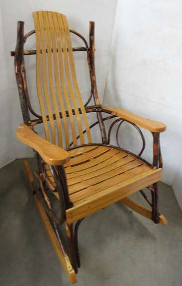 Wooden Twig Design Rocker