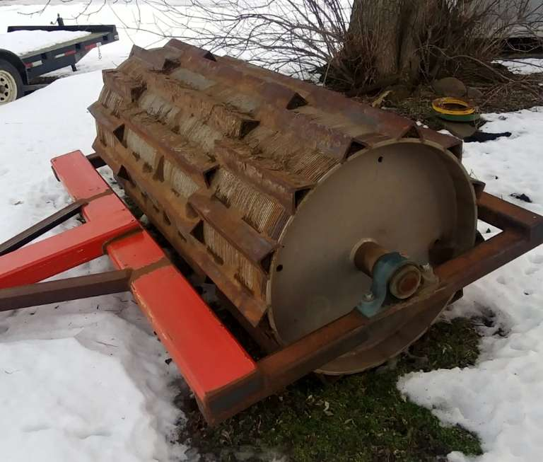 Shop-Built Heavy Duty Crimper/Roller, 8'W, Works Well for Organic Cover Crops
