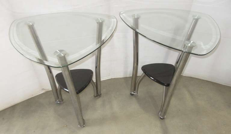 Set of Guitar Pick Shaped Side Tables
