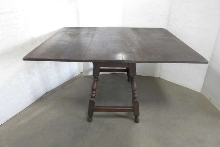 Wood Drop Leaf Table with Drawer