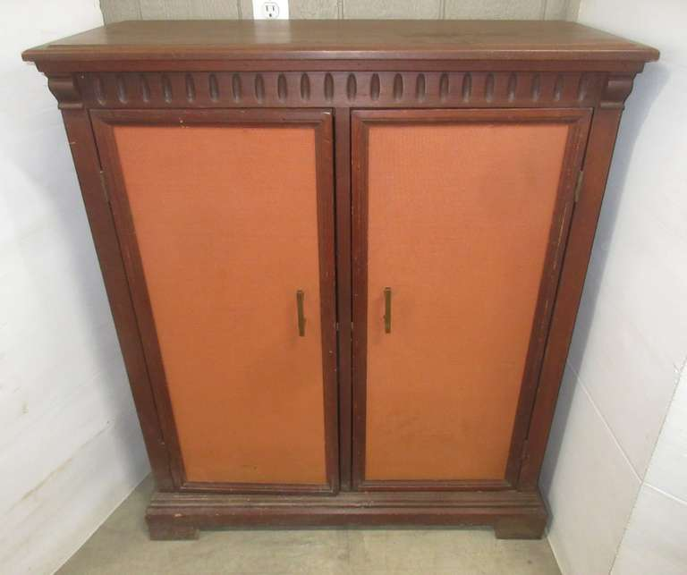 Older Wooden Cabinet with Doors and Three Shelves, Possibly Mahogany