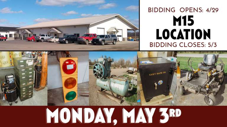 May 3rd (Monday) M-15 Online Consignment