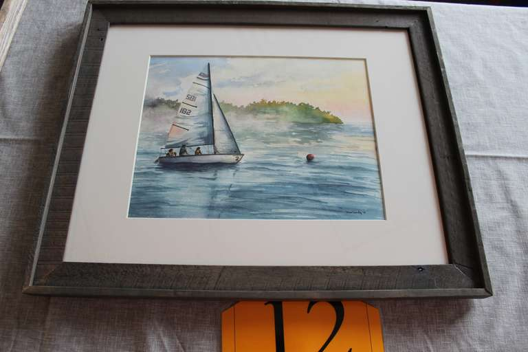 "Original Watercolor Painting, Entitled ""Youth Sailing Club"""