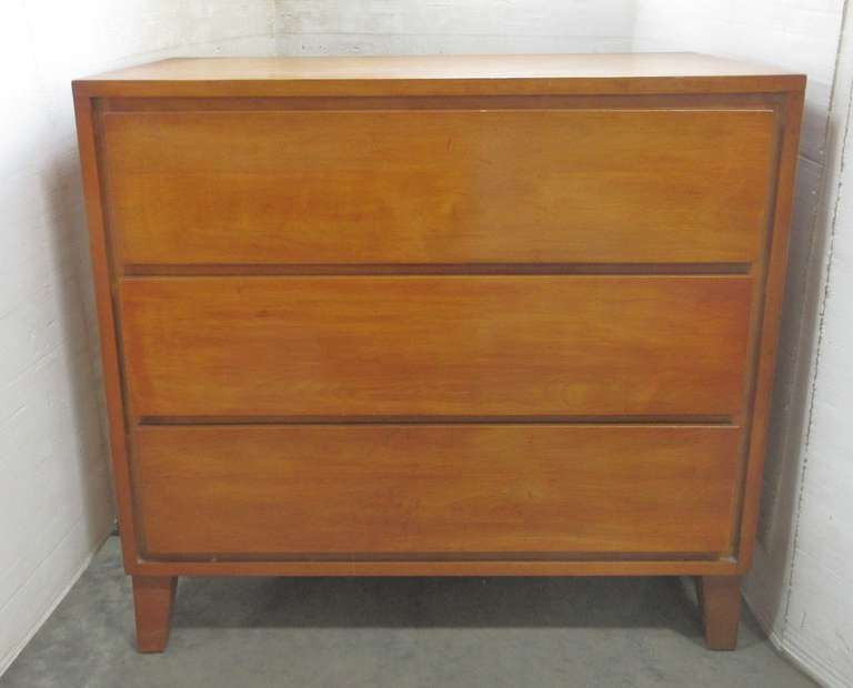 Mid-Century Conant Ball Three-Drawer Dresser, Matches Lot No. 62