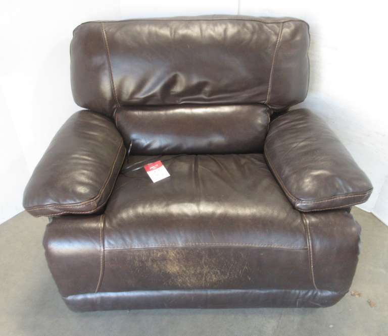 Brown Leather Recliner, Electric