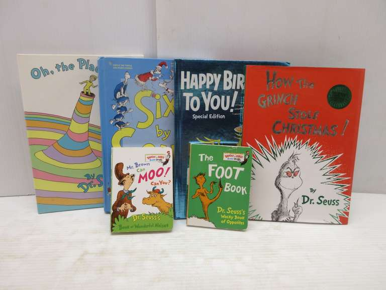 "(6) Books by Dr. Seuss, Includes the Out of Print Title ""Six by Seuss"" which Includes the Book ""And to Think I Saw it on Mulberry Street"""