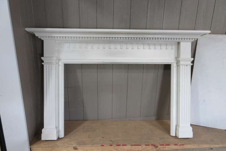 White Wood Mantle